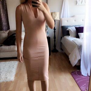 Zara Baby Pink Bodycon Dress
